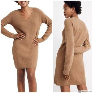 Madewell Relaxed V-Neck Sweater Dress, size S